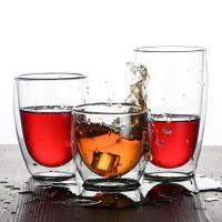 Handblown Pyrex Heat Resistant Borosilicate 450ml Double Wall Glass Coffee Cup Coffee Mug
