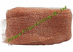 China FWD Liquid Gas Separator Knitted Red Copper Wire Mesh Stainless Steel 304,304L,316,316L,317,310S,321,304M, Brass on sale