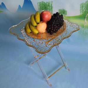 China Transparent foldable design Acrylic coffee table, acrylic table display stand for home decoration on sale