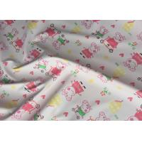 Pink Printed Garment Leather Fabric Handfeeling For Kids