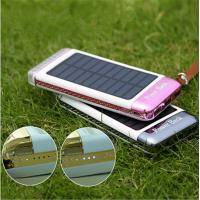China 3 USB Ports 5V Solar Charger Portable Power Pack Rainbow Camping Light on sale