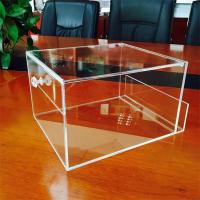 China custom handmade clear small acrylic box on sale