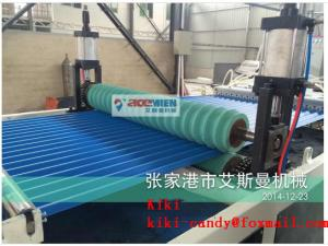 China PVC Tile Forming Machine Type and Roof Use PVC Corrugated Roll Forming Machine on sale
