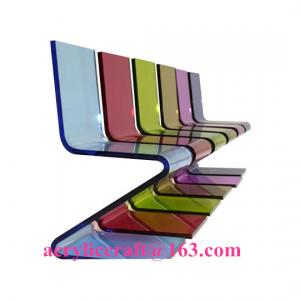 China Hot sale elegant colored acrylic furniture Z Shape acrylic chair on sale