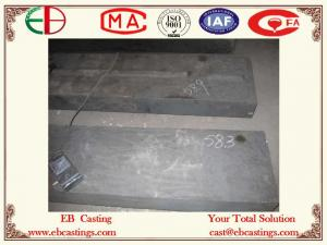 China High Cr Casting Impact Plates HBW 600XCr35 Hardness Test HRC58.3 EB11010 on sale