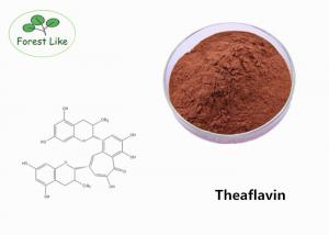 China Brown Natural Pure Black Tea Leaf Extract Powder 20% Theaflavin For Weight Loss on sale