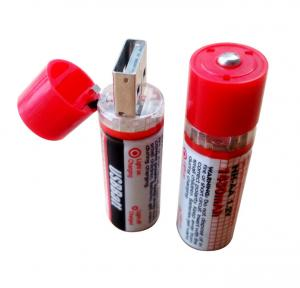 China 1.2V 1450mAh USB Rechargeable AA Batteries on sale