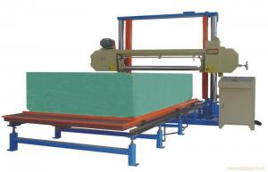 China Horizontal Automatic Polyurethane / PU Foam Cutting Machine For Sponge Sheet on sale