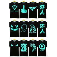 EL T-Shirt Wireless 2018 football series Light Up T-Shirt Sound Activated wireless led t shirt el flashing t shirt