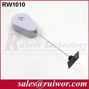 Quality Gray / White Retail Security Tether With Removeable Quadrate Viscous Tuit for sale