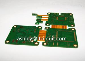 China Multilayer Mix Rigid Flexible PCB L2-18 Gold Plating Blind / Burried Vias on sale