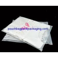 Printed CPE garment Zip Lock Bags, slide zip garment pouch bag