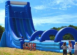China Commercial Giant Inflatable Dry And Wet Slide For Adult / Dual Lane Inflatable Slip N Slide on sale