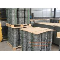 China Double Twisted Steel Barbed Wire Mesh For Protect Fencing , 14 Gauge Gal. on sale