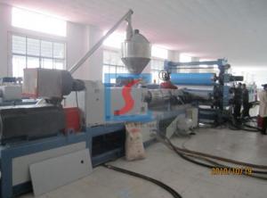 China 高く精密なPPは光沢の表面が付いている生産ライン/ポリ塩化ビニール シートの機械類を広げます on sale