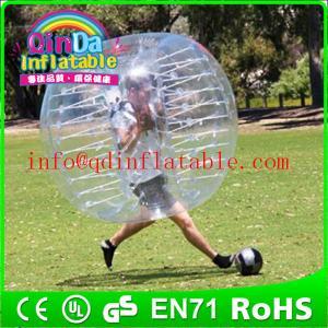 China QinDa Inflatable TPU/PVC bubble football, soccer bubble,bubble ball for football on sale