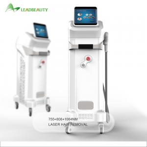 China Professional 755 808 1064 808nm diode laser hair removal machine with CE approved on sale