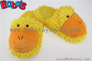 China Lady Shoes Plush Stuffed Closed Teo Indoor Slipper in Cartoon Duck Head on sale