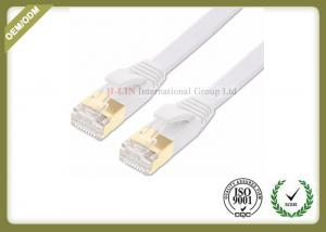China FTP / SFTP Shielded Network Patch Cable White Cat6 Ethernet Patch Cable on sale