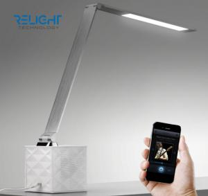 China Eye-protected Bluetooth Speaker Foldable Aluminum Alloy 8 W LED Desk Lamp with Touch Dimmable Brightness Long Lifespan on sale