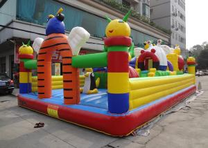 China Customized Cartoon Inflatable Bouncy Castle Waterproof  / Fire - Resistant on sale