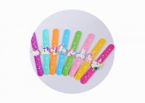 China Colorful Custom Silicone Bracelets , Printed Silicone Wristbands For Kids on sale