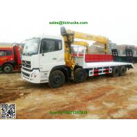 DFL 8x4 flatbed truck mounted crane XCMG cranes 12-16T.m telescopic boom  Whatsp:8615271357675
