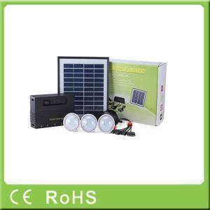 China 4W 11V off grid lithium battery led renewable energy solar lighting kit system on sale