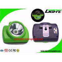 China 13000 Lux Safety Miners Cordless Cap Lamp Oled Screen SOS With USB / CradleCharger on sale