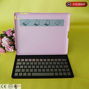 China Pink Macbook Air Pu Leather Tablet Covers With Wireless Keyboard Case on sale