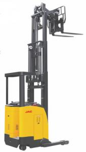China Narrow Aisle Fork Reach Truck Forklift 1.5 Ton Capacity Seated Type Single Scissor supplier