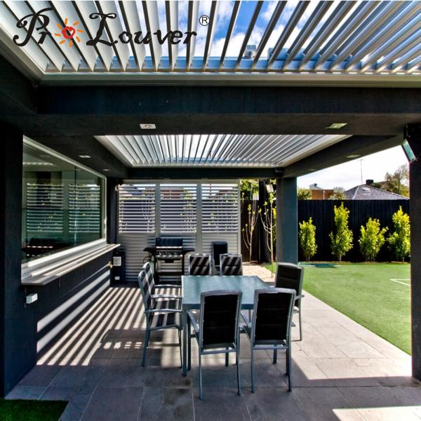 Aluminum Peddinghaus Factory Singapore: Modern House Decoration Aluminum Pergola Opening Louver
