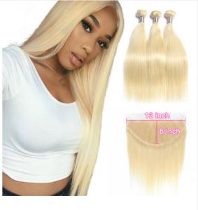 China 613 Bloned Straight 3 Bundles Peruvian Human Hair Weave For 18 Years Old Girl on sale
