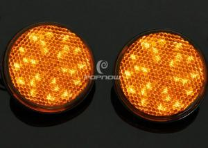 China Yellow 24 LED 12V Brake Lights For Motorcycles Or Trucks , SMD LED Tail Light on sale