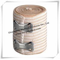 China Sterilized Soft Medical Bandage / High Stretch Compression Bandage With Clips on sale