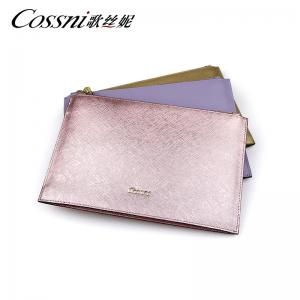 China wholesale full grain saffiano leather clutch bag on sale