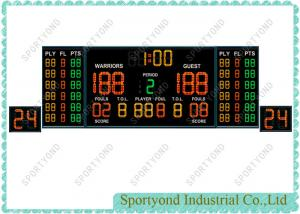 China Indoor Electronic Basketball Scoreboard with double 24s Shot Clocks Board and large digit on sale