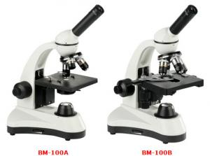 China Monocular Biological Microscope Achromatic Objectives Wide Field Eyepieces on sale