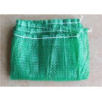 China Plastic Nylon Mesh Net Drawstring Bag Tear Resistant , Customized Logo on sale