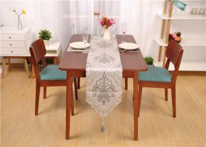 China Farmhouse Walnut Dining Table And Chairs , Rectangle Real Wood Dining Table on sale