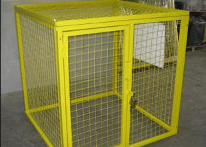 China Multi Colors Flammable Storage Cage , Gas Bottle Safety Cages Removable on sale