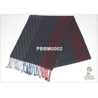 Black And Red Striped Woven Silk Scarf 120g For Unisex