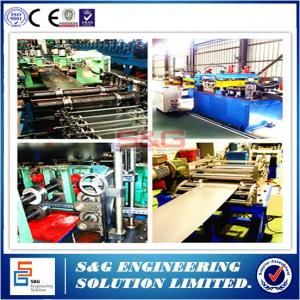 China Heavy Duty Stainless Steel Storage Rack Roll Forming Machine 0.4 - 0.8 Mm Thickness on sale