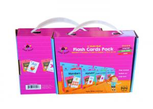 China Folded Corrugated Board Game Storage Boxes With Plastic Handle Thickness Variable on sale