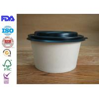 Firm Kraft Paper Salad Bowls / Reliable Paper Soup Bowls Eco - Friendly
