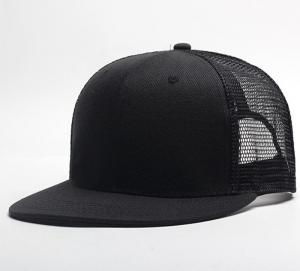 China 6 Panel Snapback Flat Bill Mesh Back Hats Custom Flat and 3D Puff Embroidery on sale