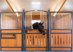 Safety Galvanized Stable Horse Yard Panels /  Horse Stall Panels Inside And Out With Bamboo Board