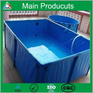 China New design steel frame plastic pool portable movable flexible cube structure flexible on sale