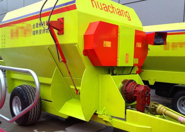 High Efficiency Sanitary TMR Feed Mixer , 7CBM Cattle Feed Mixer