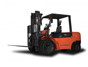 China Diesel Three Wheel Electric Forklift With Double Front Wheel , Hydraulic Transmission on sale